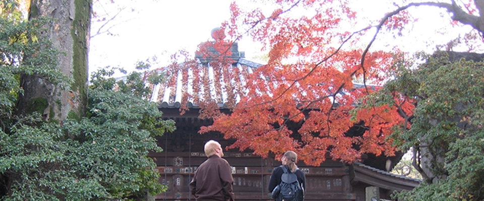 Michael Glenn and Peter Crocoll enjoy fall in Japan