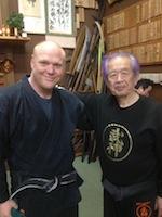 Michael Glenn with Hatsumi Sensei
