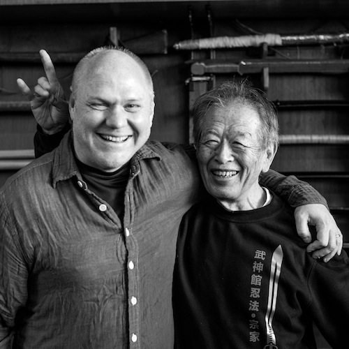 Michael Glenn with his Teacher, Masaaki Hatsumi